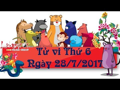 Xem tử vi hàng ngày - Tử vi Thứ 6 ngày 28 tháng 7 năm 2017 của 12 con giáp