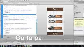 Dreamweaver jQuery mobile tutorial - Create app for Android (Cars) -part 1
