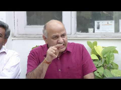 Delhi Dy CM Manish Sisodia Briefs Media on Pvt School Fees Hike