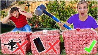 DONT Smash The WRONG Mystery CHRISTMAS PRESENT! *expensive*