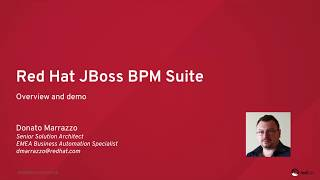 Red Hat JBoss BPM Suite Overview and Order Management Demo