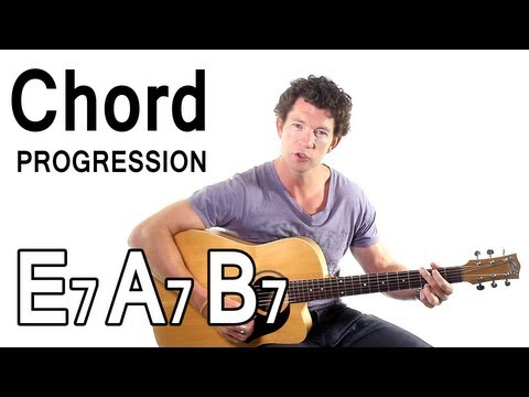 Beginner Guitar Chords 11 - 12 Bar Blues in The Key of E