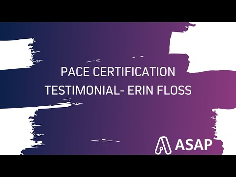 PACE Certification Testimonial - Erin Floss, PACE - YouTube
