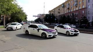 Шикарные белые Мерседесы на свадьбу в Челябинске. (www.auto454.ru)