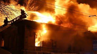 Ужасный пожар на ул. Аткарской, около ЖД Вокзала в Саратове