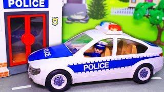 Видео для детей с игрушками Плеймобил – Команда! Новые мультфильмы 2019 про машинки