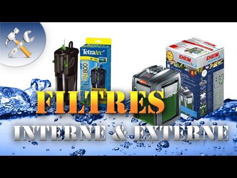 Les filtres internes et externes en aquarium: Que choisir ?
