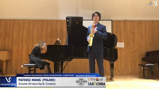 Mateusz HUANG plays Sonate by P. Creston #adolphesax