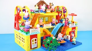 Peppa Pig Building House With Water Slide Toys For Kids - Lego Duplo House Creations Toys #7