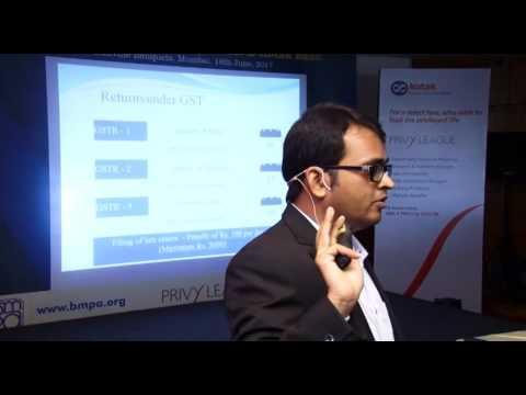 Expert Session on GST by BMPA & Kotak Bank on 16 Jun 2017 Part 2/4