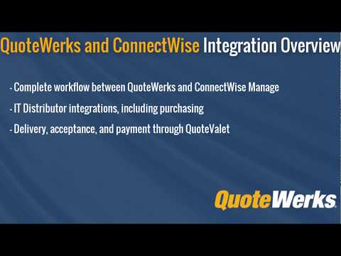 QuoteWerks: ConnectWise Manage Integration | Quotes & Proposals | CPQ
