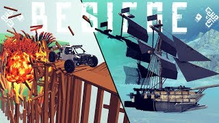 Besiege - Invisibility Cloak Block, New Weapons - V 0.70 Full Mod Support Update! - Besiege Gameplay