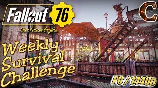 Fallout 76 Live Stream, PC/1440p, Part 50: Weekly Survival Mode Challenge & Legendary Weapon Reward!