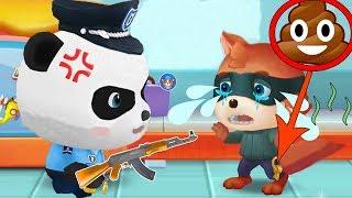 Малыш Панда Полицейский Ловим Грабителей Мультик Игра про Малыша Панду мультфильмы 2017