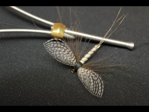 Fly tying video: Spent mayfly with wally wing (dry Fly)
