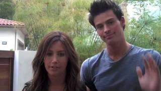 Ashley & 90210's Adam Gregory at the Video Shoot for her New Album!