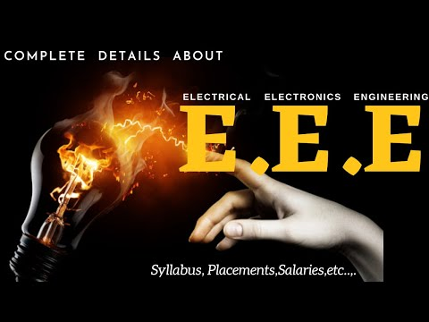Btech in Electrical&Electronics Eng Complete Course Details|EEE ...