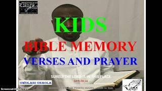 Kids Bible Memory Verses And Prayer - Owolabi Onaola