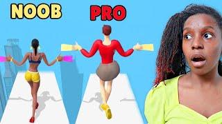 NOOB vs PRO vs HACKER in Long Nails 3D App