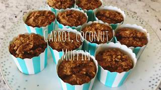 Carrot, coconut muffin