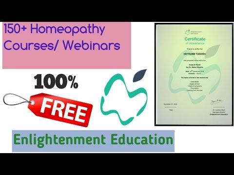 Online Homeopathy Course/ Webinars | Enlightenment Education | 100% Free Certificate |