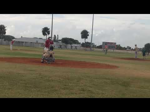 Dustin Belknap (2020, SS/2B) RBI Single Satellite HS fall ball vs. Viera 10/7/2019