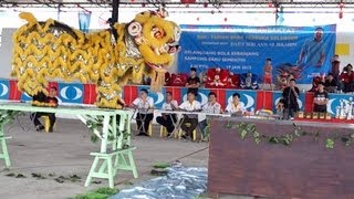 preview picture of video 'Lion Dance Video 2013 增江国辉醒狮团 傳統舞獅比賽'