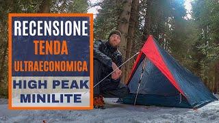 Una tenda ultraleggera ultraECONOMICA: la High Peak MiniLite