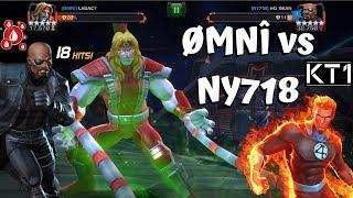 ØMNÎ vs NY718! KT1 vs Lagacy! War Path 4! - Marvel Contest of Champions
