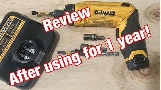 DEWALT Gyroscopic screwdriver review after using for 1 YEAR !