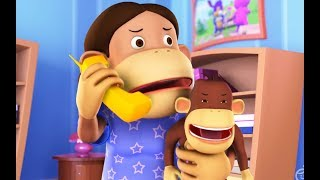 Five Little Monkeys - Nursery Rhymes For Kids And Children | Baby Songs  | Hippy Hoppy Show