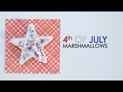 How to Make 4th of July Marshmallows