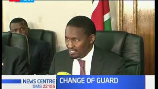 Former Devolution CS Mwangi Kiunjuri switches dockets with former Agriculture CS Eugene Wamalwa