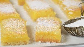 Lemon Shortbread Bars Recipe Demonstration - Joyofbaking.com