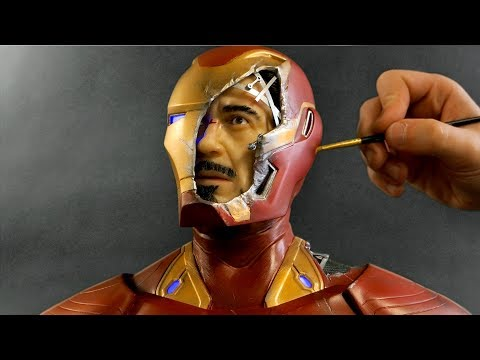 Iron Man / Tony Stark Sculpture Timelapse [5:35]