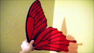 Make $10 Cellophane Fairy Wings: No Wire, Safe For Kids, Patterns Included.