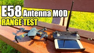 Eachine E58 Drone RANGE MOD TEST With Dipole Antenna Upgrade (Works For Any Rc Quadcopter)