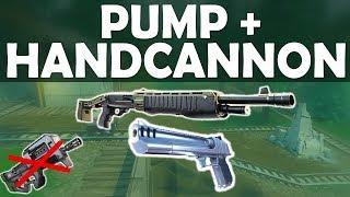 PUMP + HANDCANNON | NO SMG CHALLENGE IN SCRIM GAME! INTENSE & FUNNY-(Fortnite Battle Royale)