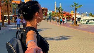 отдых в Хургаде Что посмотреть в центре города набережная New Marina Египет 2019 влог