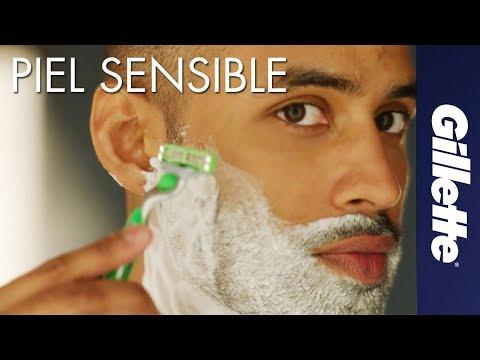 Cómo Afeitar Piel Sensible   Gillette MACH3 Sensitive