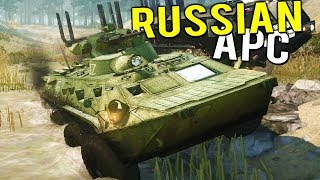 RUSSIAN BTR-82A APC GOES MUDDING! Bog Buggy + More! - Spintires MudRunner Multiplayer Gameplay