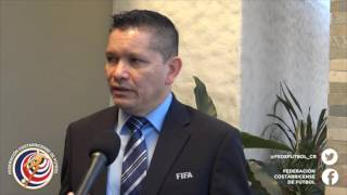 Rodolfo VillalobosPresidente FEDEFUTBOL Ricardo CerdasComisión Arbitraje y Hécto