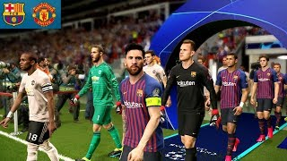 Barcelona Vs Manchester United -  UCL 16 April 2019 Gameplay