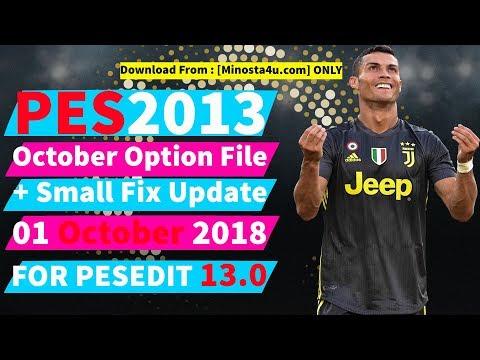 PES 2013 PC ] New Option File Final Transfer Agustus 2018