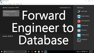 MySQL Workbench Tutorial - Forward Engineer to Database