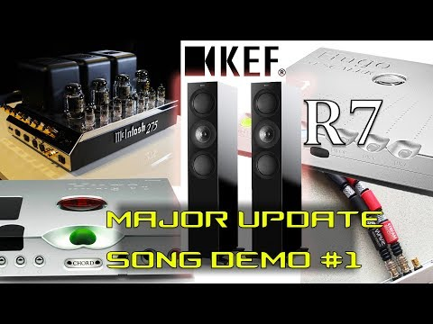 KEF R7 speakers REVIEW MAJOR UPDATE Chord Hugo M Scaler Wave High Fidelity McIntosh Hugo TT 2