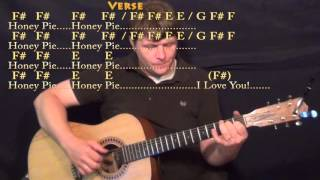 Wild Honey Pie (Beatles) Fingerstyle Guitar Cover Lesson with Chords/Lyrics