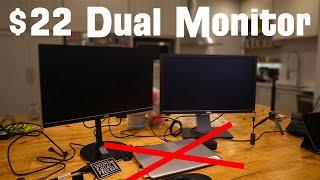 Laptop Dual Monitor Setup without a Docking Station