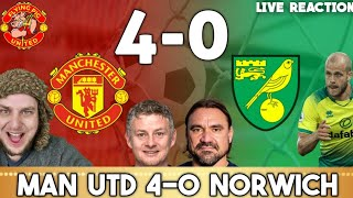 Man Utd 4-0 Norwich City | Rashford Brace + Martial & Greenwood Goals Smash Canaries