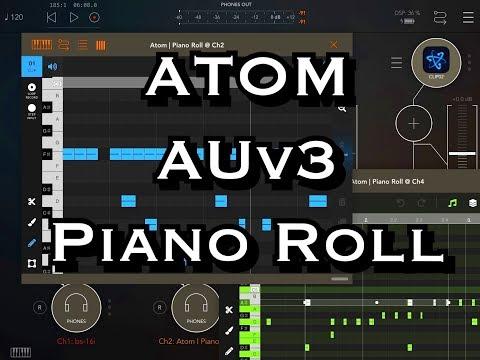 ATOM - Piano Roll - AUv3 Midi Editor - Pre Release Demo for the iPad